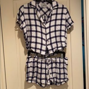 Rails Plaid Matching PJ Set